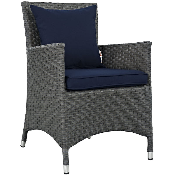 Sojourn Dining Outdoor Patio Sunbrella® Armchair - Canvas Navy