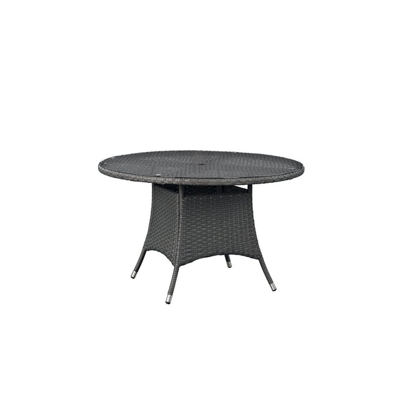 "Sojourn 47"" Round Outdoor Patio Dining Table - Chocolate"