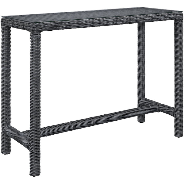 Summon Large Outdoor Patio Bar Table - Gray