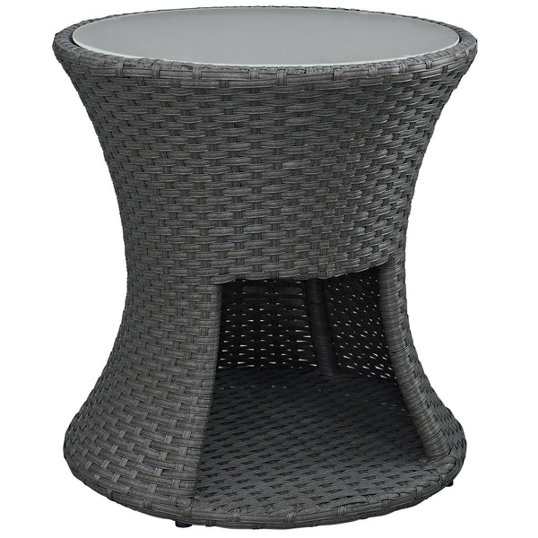 Sojourn Outdoor Patio Side Table - Chocolate