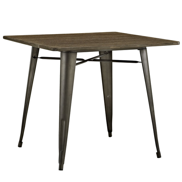 "Alacrity 36"" Square Wood Dining Table - Brown"
