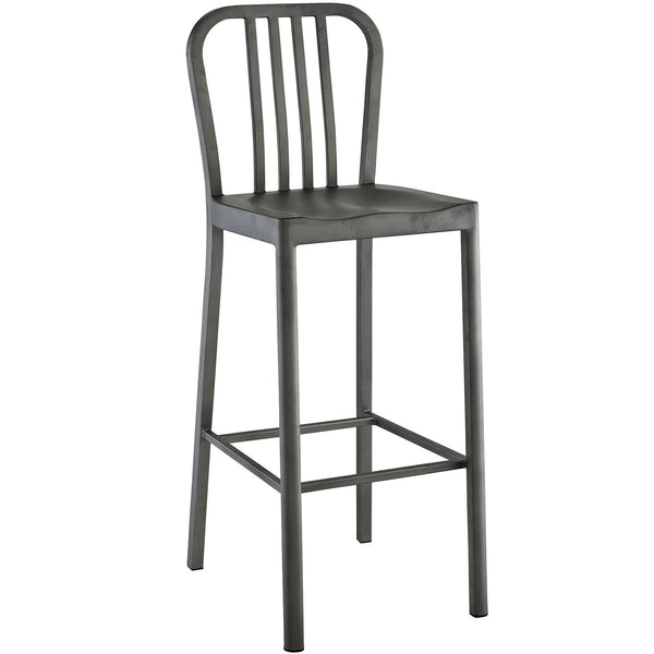 Clink Metal Bar Stool - Silver