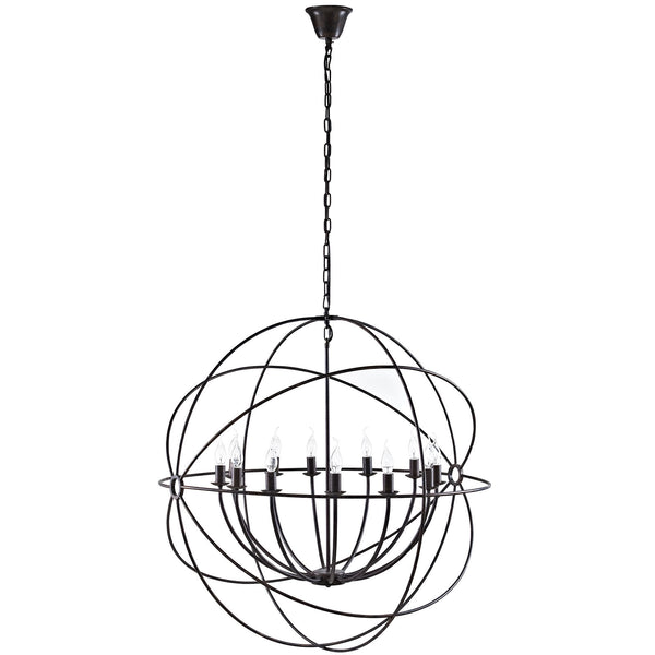 "Atom 39.5"" Chandelier - Brown"