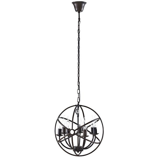 Atom Chandelier - Brown