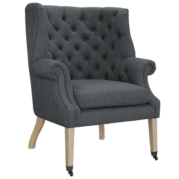 Chart Fabric Lounge Chair - Gray