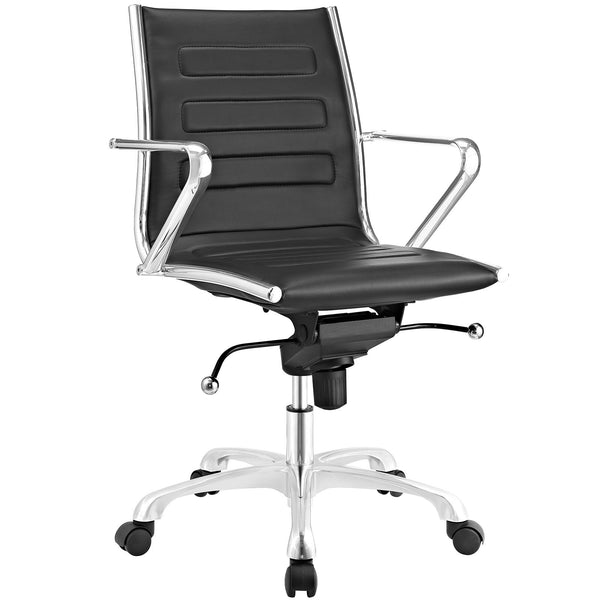 Ascend Mid Back Office Chair - Black