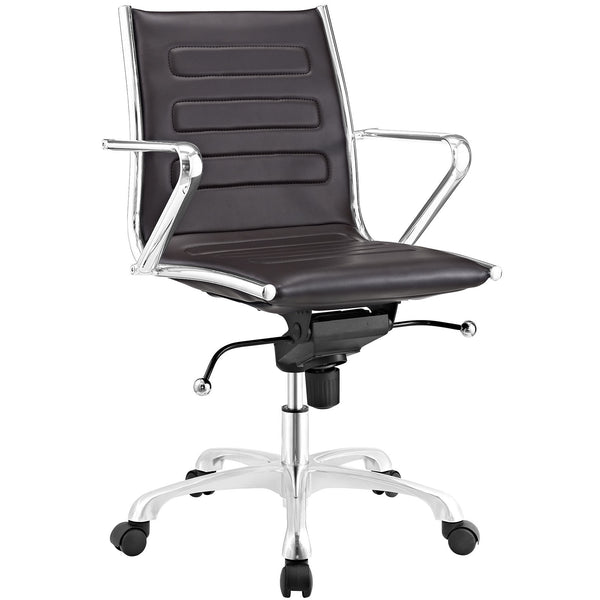 Ascend Mid Back Office Chair - Brown