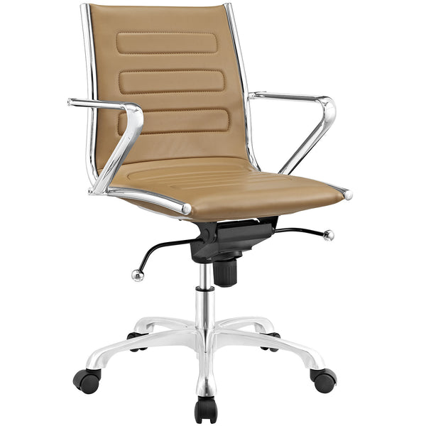Ascend Mid Back Office Chair - Tan