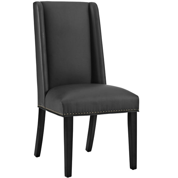 Baron Vinyl Dining Chair - Black