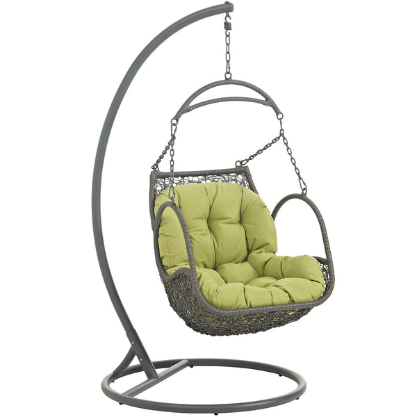 Arbor Outdoor Patio Wood Swing Chair - Peridot