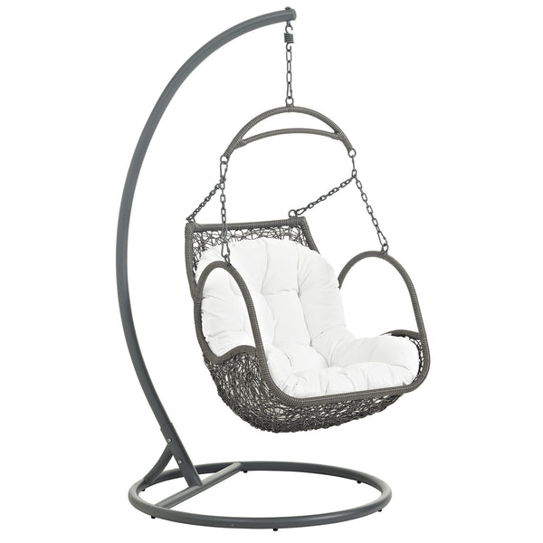 Arbor Outdoor Patio Wood Swing Chair - White