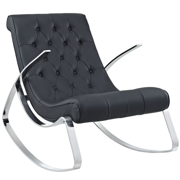 Canoe Rocking Chair - Black
