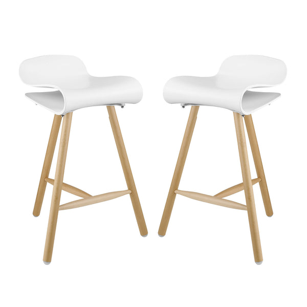 Clip Bar Stool Set of 2 - White