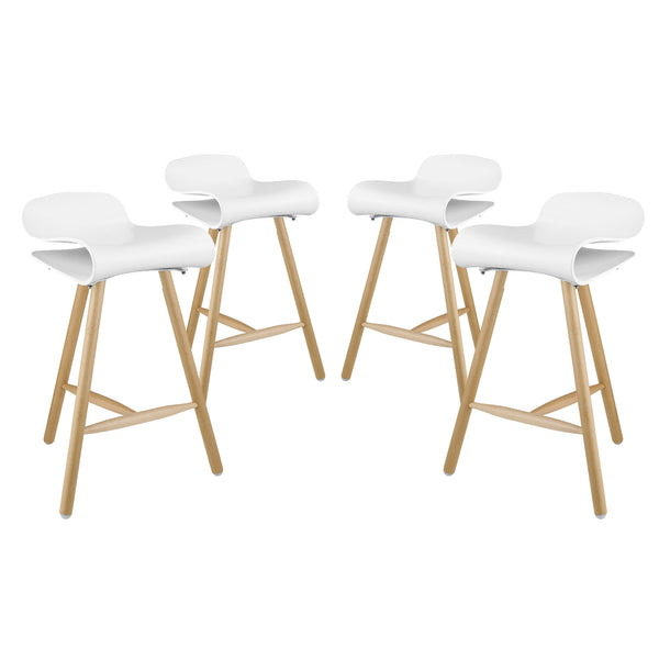 Clip Bar Stool Set of 4 - White