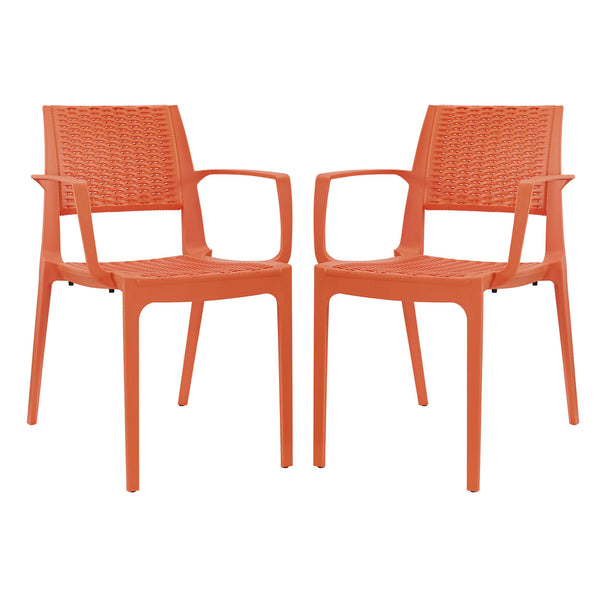 Astute Dining Set Set of 2 - Orange