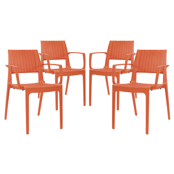 Astute Dining Set Set of 4 - Orange