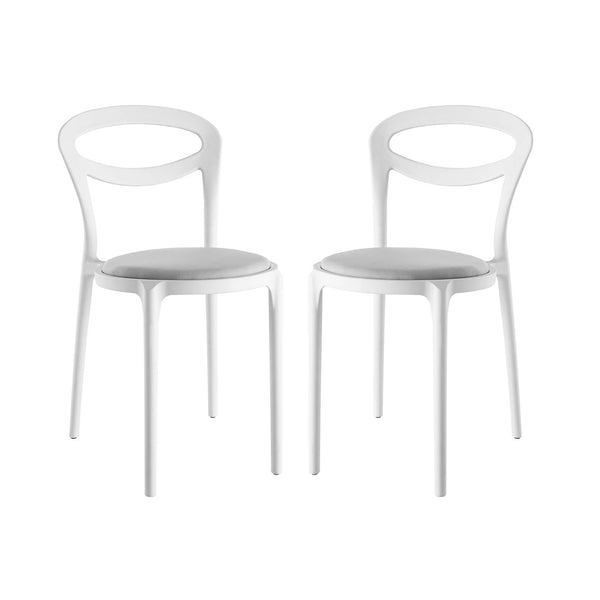 Assist Dining Side Chair Set of 2 - White Gray