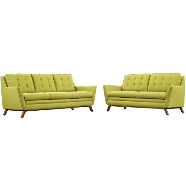 Beguile Living Room Set Fabric Set of 2 - Wheatgrass