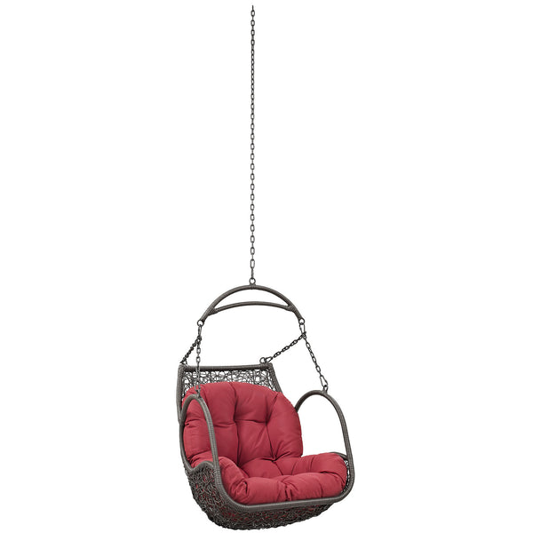 Arbor Outdoor Patio Swing Chair Without Stand - Red