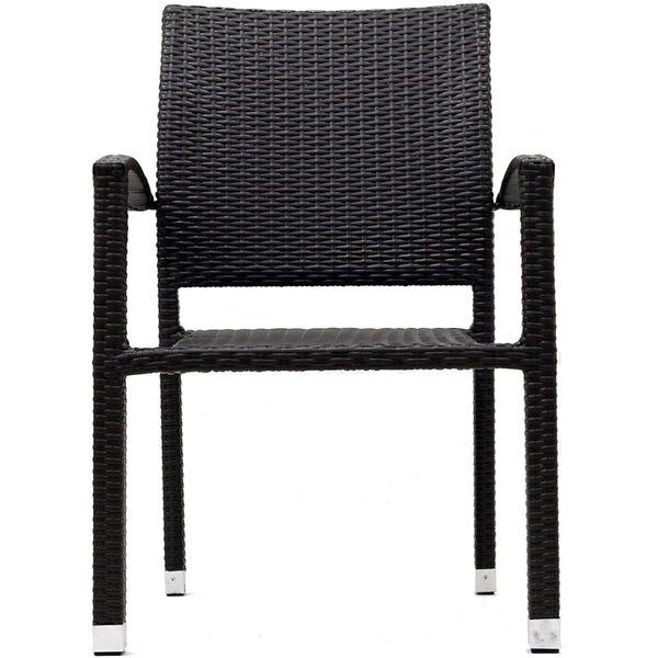 Bella Dining Outdoor Patio Armchair - Espresso