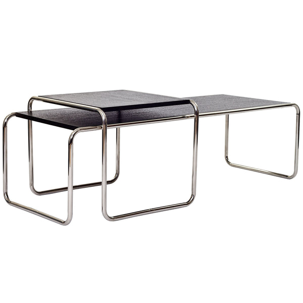 Blox Wood Top Coffee Table - Black
