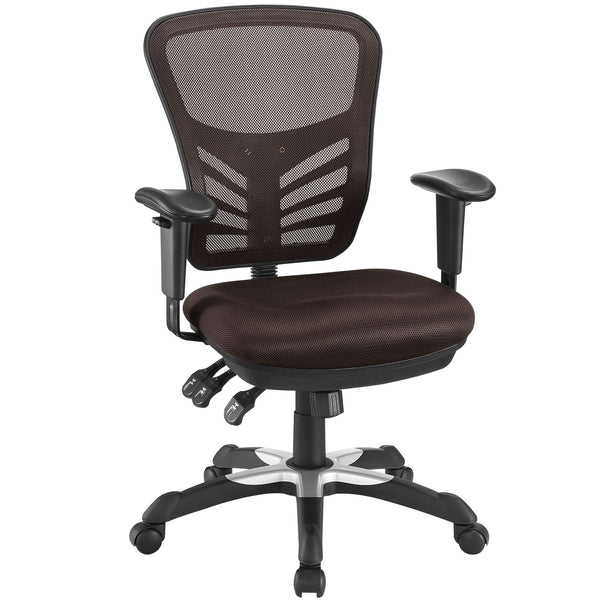 Articulate Mesh Office Chair - Brown