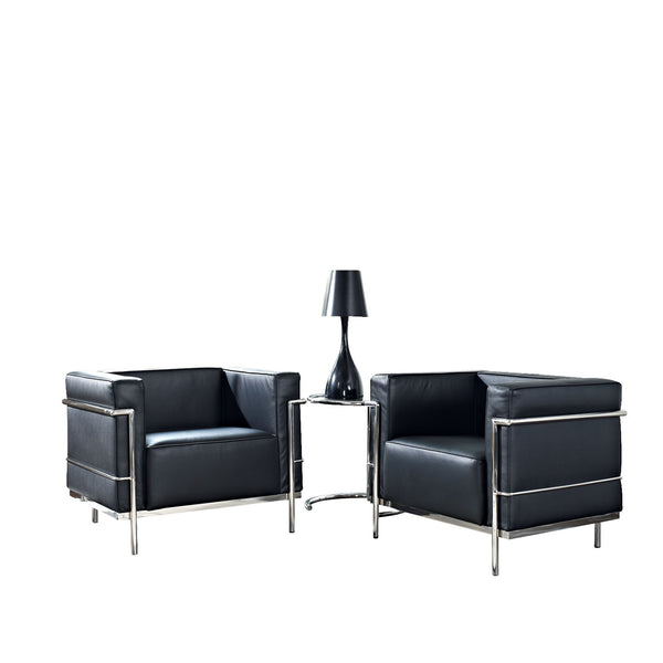 Charles Grande 3 Piece Sofa Set - Black