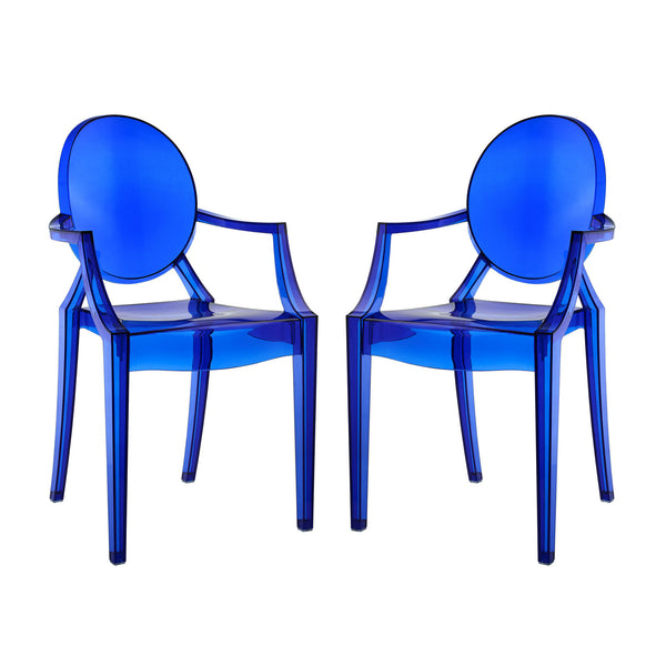 Casper Dining Armchairs Set of 2 - Blue