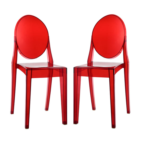 Casper Dining Chairs Set of 2 - Red