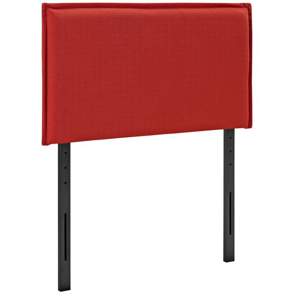 Camille Twin Fabric Headboard - Atomic Red