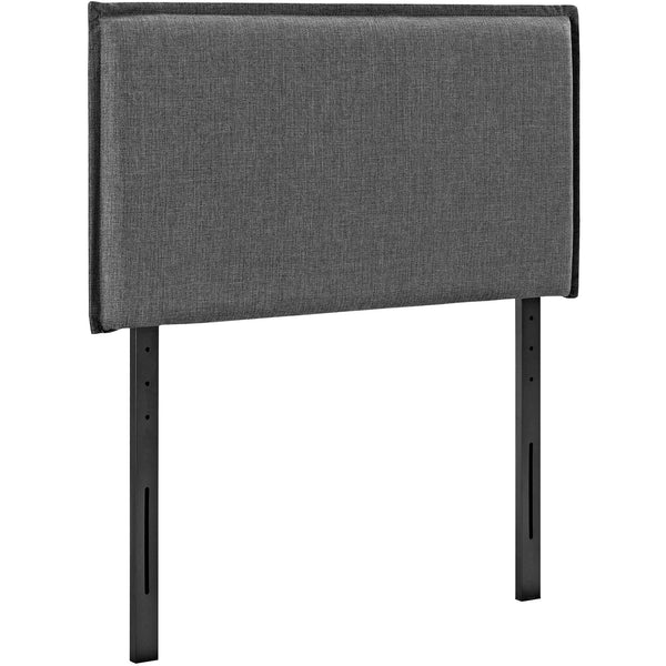 Camille Twin Fabric Headboard - Gray
