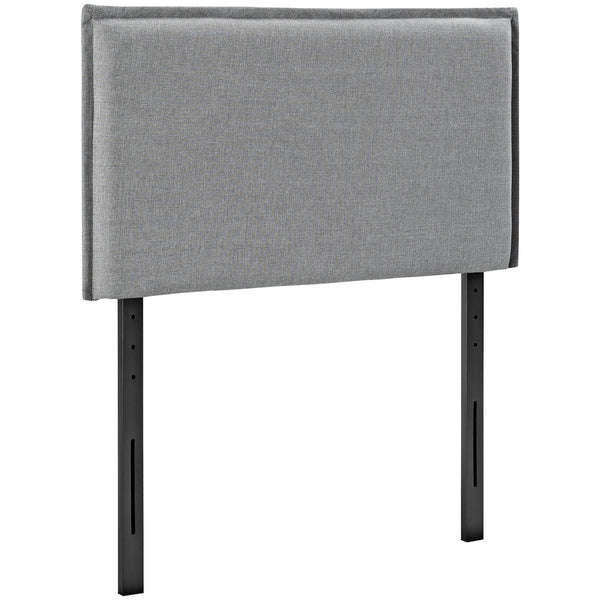 Camille Twin Fabric Headboard - Light Gray