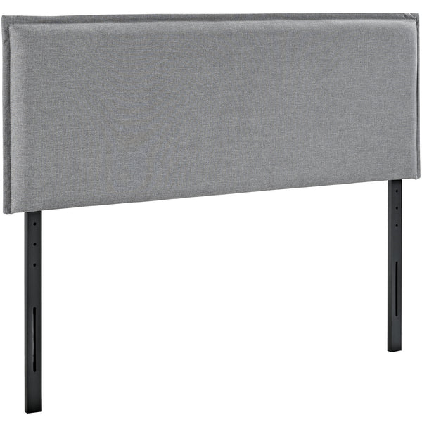 Camille King Fabric Headboard - Light Gray