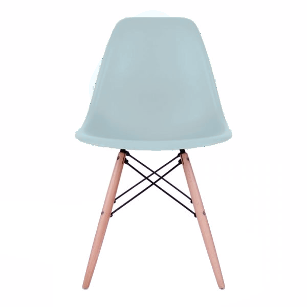 Mint Eames Style Molded Plastic Dowel-Leg Dining Side Wood Base Chair (DSW) Natural Legs