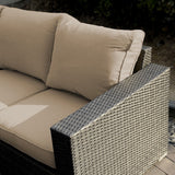7 Piece Outdoor Patio Sofa Set - Gray w/ Light Brown Cushion
