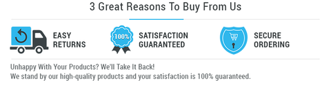 100% SATISFACTION GUARANTEE & EASY CHECKOUT