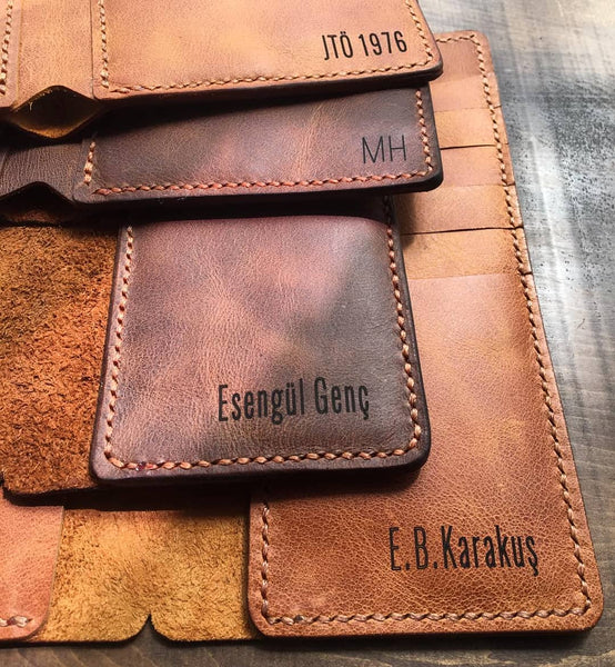 leather wallet engraving