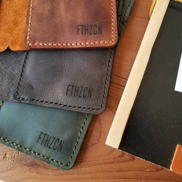 customized leather wallet