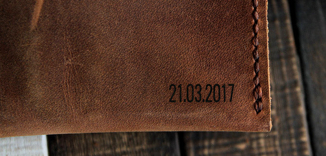 personalized leather goods
