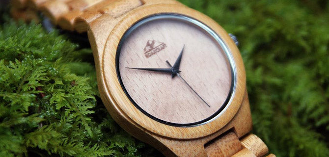 mens wood watch