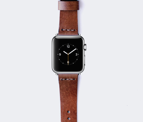 Apple Watch Deri Kordon - Taba Renk
