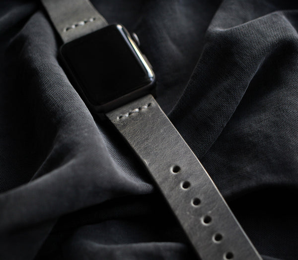 Apple Watch Deri Kordon - Antik Gri