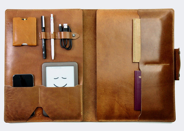"13"" Macbook Organizer Deri Kılıf -  Wallet - Roarcraft"