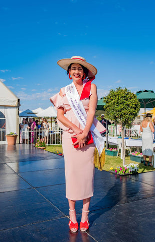 Stacey Paterson winner Kalgoorlie WA Fashions on the Field 2018 maker millinery