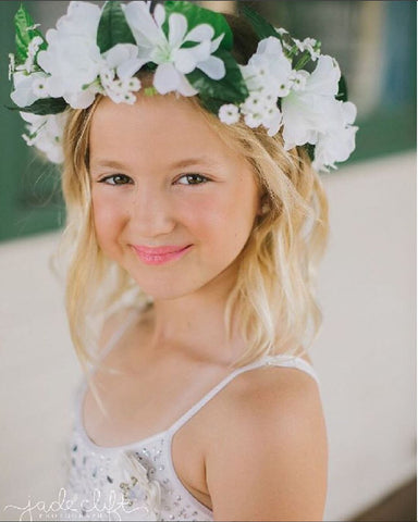 Flower Girl flower garland by Maker Millinery