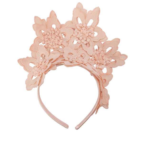 EVERLEY LACE HEADBAND - BLUSH