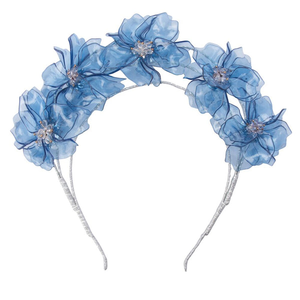 DELANEY ACRYLIC HEADBAND - BLUE