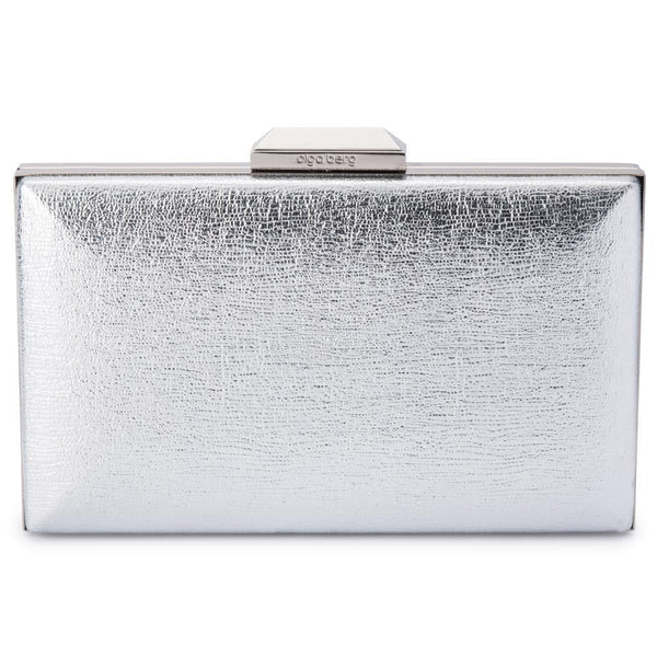 ELLE METALLIC CLUTCH - SILVER