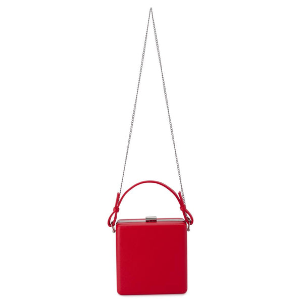 ASHLEY TOP HANDLE CLUTCH - RED