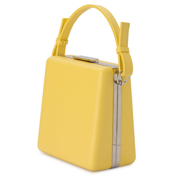 ASHLEY TOP HANDLE CLUTCH - YELLOW